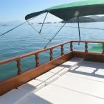 Deck com almofadas